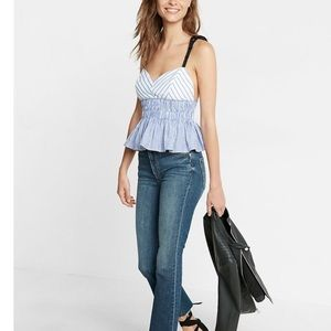 Express ruched cotton poplin cami